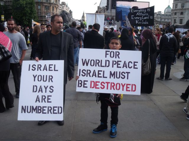 arab hate signs to israel