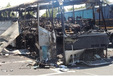 bus in bulgas bulgaria  terror attack