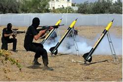 hamas rockets at israel