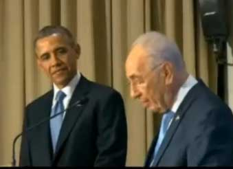 obama and peres in israel