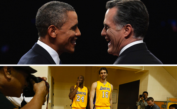 obama romney lakers