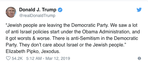 Without Ever Using Word Blog Nyt Admits >> Donald Trump Says Jews Are Leaving The Democrats Are They