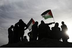 palestinian flags replace israeli flags in jaffa