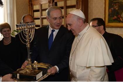 netanyahu and pope
