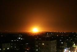 gaza airstrike after 60 missiles fall in israel