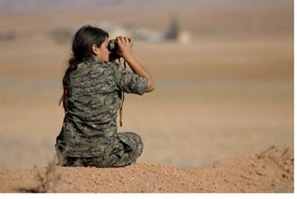 israeli woman joins kurds