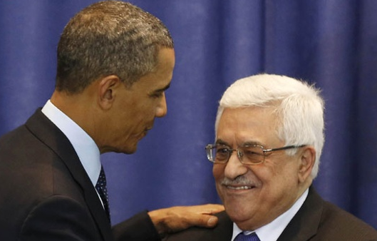obama says abbas is peaceful
