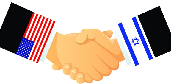 Israel and US hand shake
