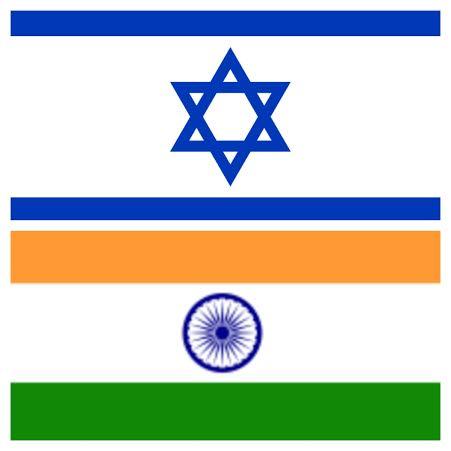india israel flag