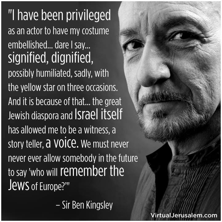 ben kingsley on the holocaust and the jews