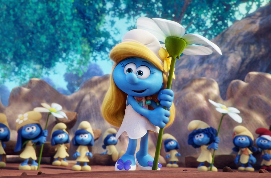 smurfette removed from orthodox posters in jewish neighborhoods